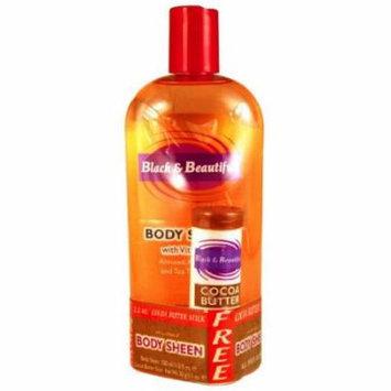 Black & Beautiful Body Sheen Lotion with Bonus 11.8 oz. (Pack of 2)