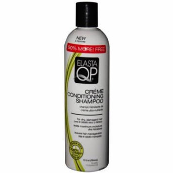 Elasta Qp Creme Conditioning Shampoo for Dry Damaged Hair 12 oz. (Pack of 2)