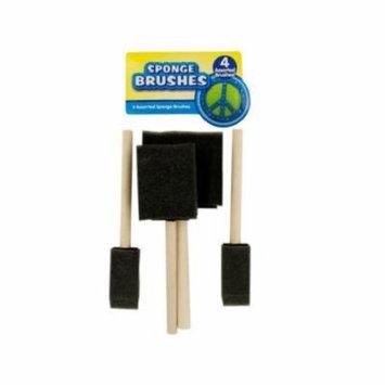 Bulk Buys HA293-24 Assorted Sponge Rollers Brushes, 24 Piece