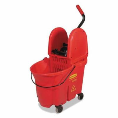 Rubbermaid Commercial Products 757888RED WaveBrake Bucket And Wringer Combos - Red