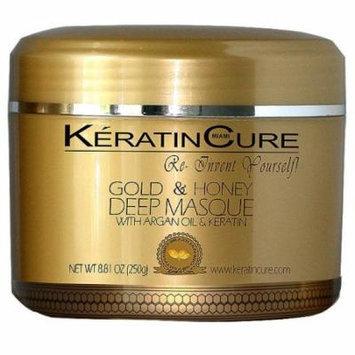 Keratin Cure Gold & Honey Deep Masque Revitalizing Hair Repair 250g/8floz