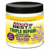 Africa's Best Triple Repair Oil Moisturizer Hair & Scalp Conditioner 6 oz. (Pack of 2)