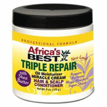 Africa's Best Triple Repair Oil Moisturizer Hair & Scalp Conditioner 6 oz. (Pack of 2)
