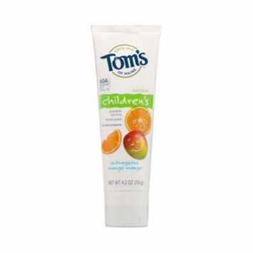 Toms Of Maine 0127258 Outrageous Orange Mango Childrens Natural Fluoride Toothpaste, 4. 2 oz - Case of 6