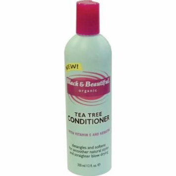 Black & Beautiful Tea Tree Conditioner 12 oz. (Pack of 2)
