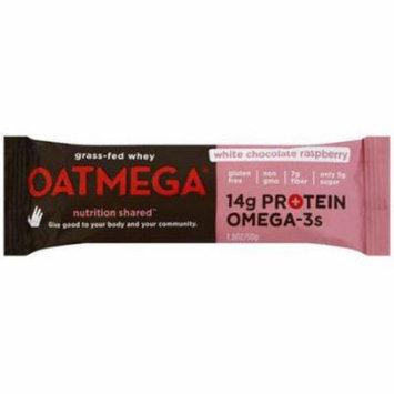 Oatmega White Chocolate Raspberry Bar, 50g (Pack of 12)