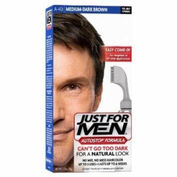 Just For Men AutoStop Hair Color - #40 Medium Dark Brown (Pack of 4)