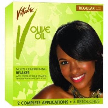 Vitale Olive Oil Relaxer - Regular Kit 2-Count (Pack of 6)