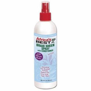Africa's Best Braid Sheen Spray 12 oz. (Pack of 6)