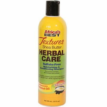 Africa's Best Textures Herbal Care Shampoo 12 oz. (Pack of 6)