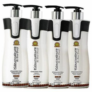 Keratin Cure 0% Formaldehyde Bio-Brazilian Hair Treatment Chocolate 15 oz 4 piece Kit 460 ML