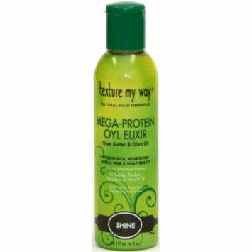 Texture My Way Mega - Protein Oyl Elixir Hair & Scalp Remedy 6 oz. (Pack of 6)
