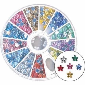 Amazing Shine Nail Art - Rhinestones Flower Mix 4-Count (Pack of 2)