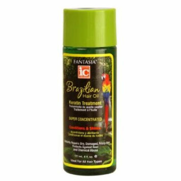 Fantasia IC Brazil Keratin Hair Oil 6 oz. (Pack of 2)