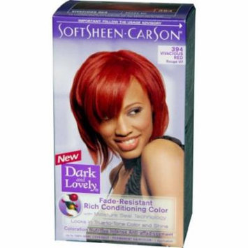 Dark & Lovely Reviving Colors - #394 Hair Color - Vivacious Red Kit (Pack of 2)