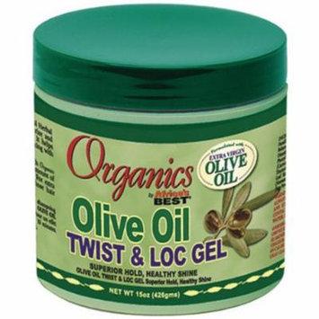 Africa's Best Organics Olive Oil Twist & Loc Gel 15 oz. (Pack of 6)