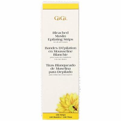 Gigi Bleached Muslin Epilating Strips - Large 100-Count (Pack of 6)