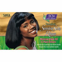 At One with Nature Botanicals StrongEnds Sensitive Scalp Relaxer- Super Kit (Pack of 6)