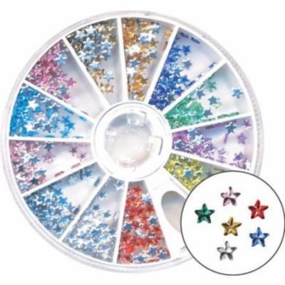 Amazing Shine Nail Art - Rhinestones Star Mix 4-Count (Pack of 6)