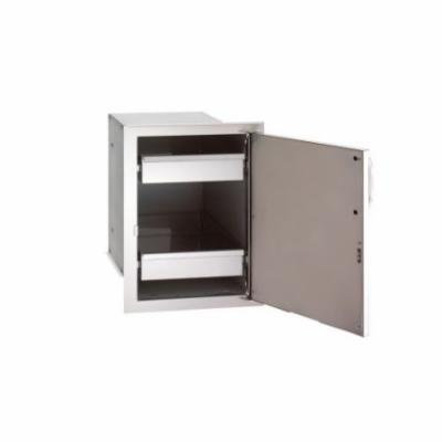 Single Access Door with Dual Drawers - Left Swing