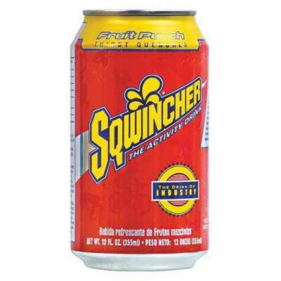 SQWINCHER 100105-FP Sports Drink,12 oz.,Fruit Punch G4050859
