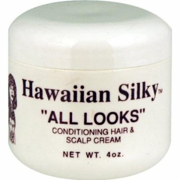 Hawaiian Silky All Look Cream Hair & Scalp 4 oz. (Pack of 2)