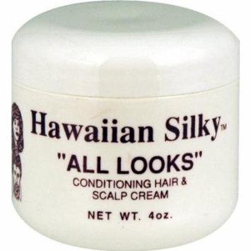Hawaiian Silky All Look Cream Hair & Scalp 4 oz. (Pack of 2)