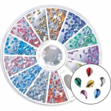 Amazing Shine Nail Art - Rhinestones Tear Drop Mix 4-Count (Pack of 6)
