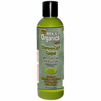 Africa's Best Men's Organics Wave-n- Curl Keeper Moisturizing Hair Lotion 8 oz. (Pack of 6)