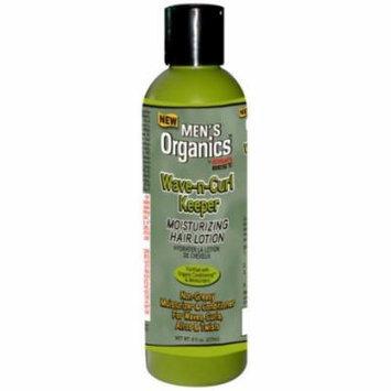 Africa's Best Men's Organics Wave-n- Curl Keeper Moisturizing Hair Lotion 8 oz. (Pack of 6)