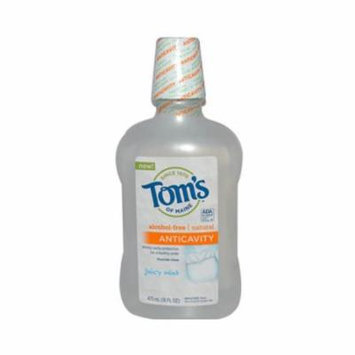 Toms Of Maine 0129031 Childrens Anticavity Fluoride Rinse Juicy Mint, 16 fl oz