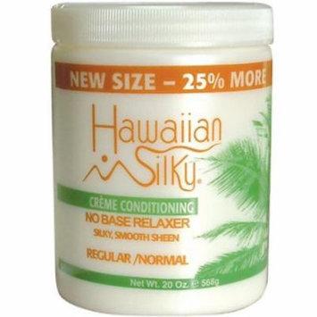 Hawaiian Silky No Base Relaxer 20 oz. - Regular Bonus 20 oz. (Pack of 6)