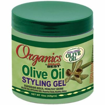 Africa's Best Organic Olive Oil Styling Gel 15 oz. (Pack of 6)