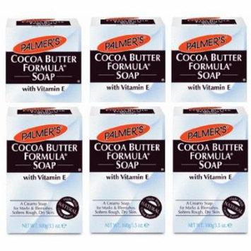 Palmer's Cocoa Butter Formula, Cream Soap Bar with Vitamin E, 3.5 oz (Pack of 6)