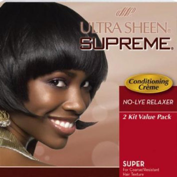 Johnson Ultra Sheen Supreme No-Lye Relaxer - Super Kit 2-Count (Pack of 6)