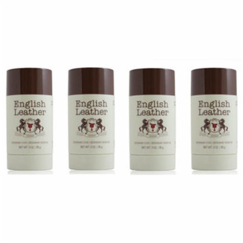 English Leather Deodorant Stick - 3 Oz (85g) (4 Pack)