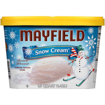 Mayfield Snow Cream Frozen Dessert Ice Cream, 1.5 qt