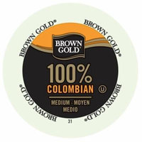 Brown Gold Coffee 100% Colombian, RealCup Portion Pack For Keurig Brewers, 192 Count