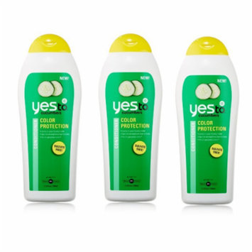 Yes To Cucumbers Color Protection Sulfate Free Conditioner, 11.5 Fluid Ounce (Pack of 3)