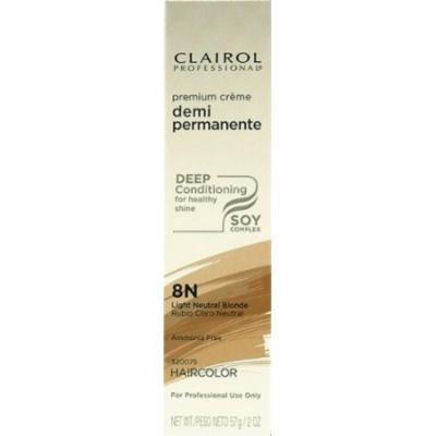 Clairol Premium Cr?me Demi Permanent Hair Color - #8N Light Neutral Blonde 2 oz. (Pack of 2)