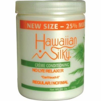 Hawaiian Silky No-Lye Relaxer 20 oz. - Regular Bonus 20 oz. (Pack of 6)