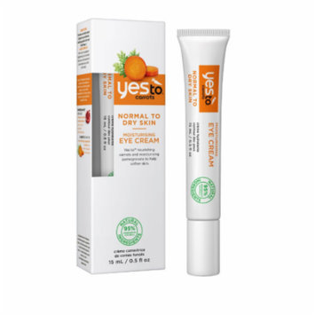 Yes To Carrots Normal To Dry Skin, Moisturizing Eye Cream, 0.5 Oz