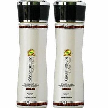 Sulfate Free Keratin Cure Chocolate Brazilian Daily Shampoo Conditioner 160ml/5floz