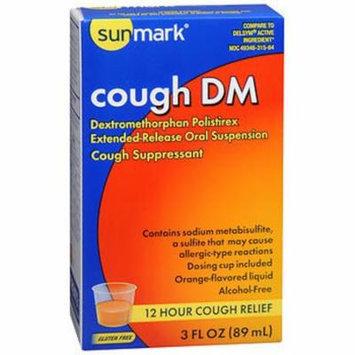 Sunmark Cough DM Liquid, Orange Flavor - 3 oz