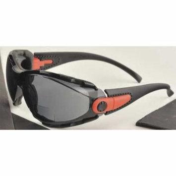 ELVEX RX-GG-40G-AF-2.0 Reading Glasses,+2.0,Gray,Polycarbonate