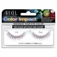 Ardell Color Impact Lash False Eyelashes - #110 Plum (Pack of 4)