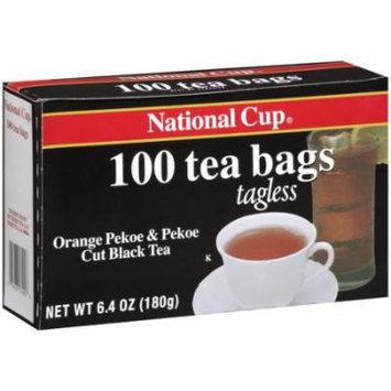 National Cup Orange Pekoe & Pekoe Cut Black Tea Tea Bags, 100ct