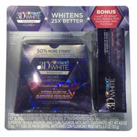 Crest 3D White Whitestrips, Luxe, Glamorous White, 21 Treatments, 42 Total Strips and Crest 3D White Toothpaste, Radiant Mint, 4 oz