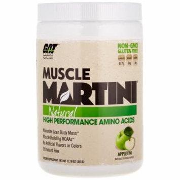 GAT Muscle Martini Natural BCAA Formula, Apple, 30 Servings