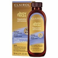 Clairol Professional Soy4Plex Hair Color - #7A/42D - Medium Cool Blonde 2 oz. (Pack of 6)